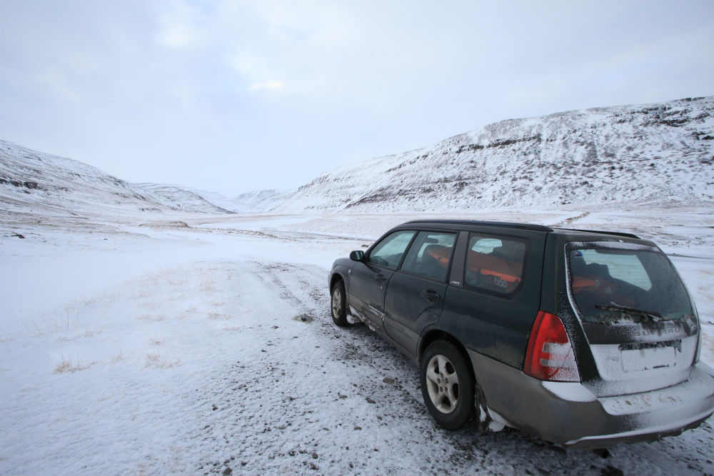 Iceland snow driving