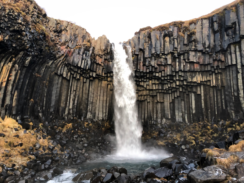 Highlights-of-a-roadtrip-through-south-Iceland-sadcars-Svartifoss