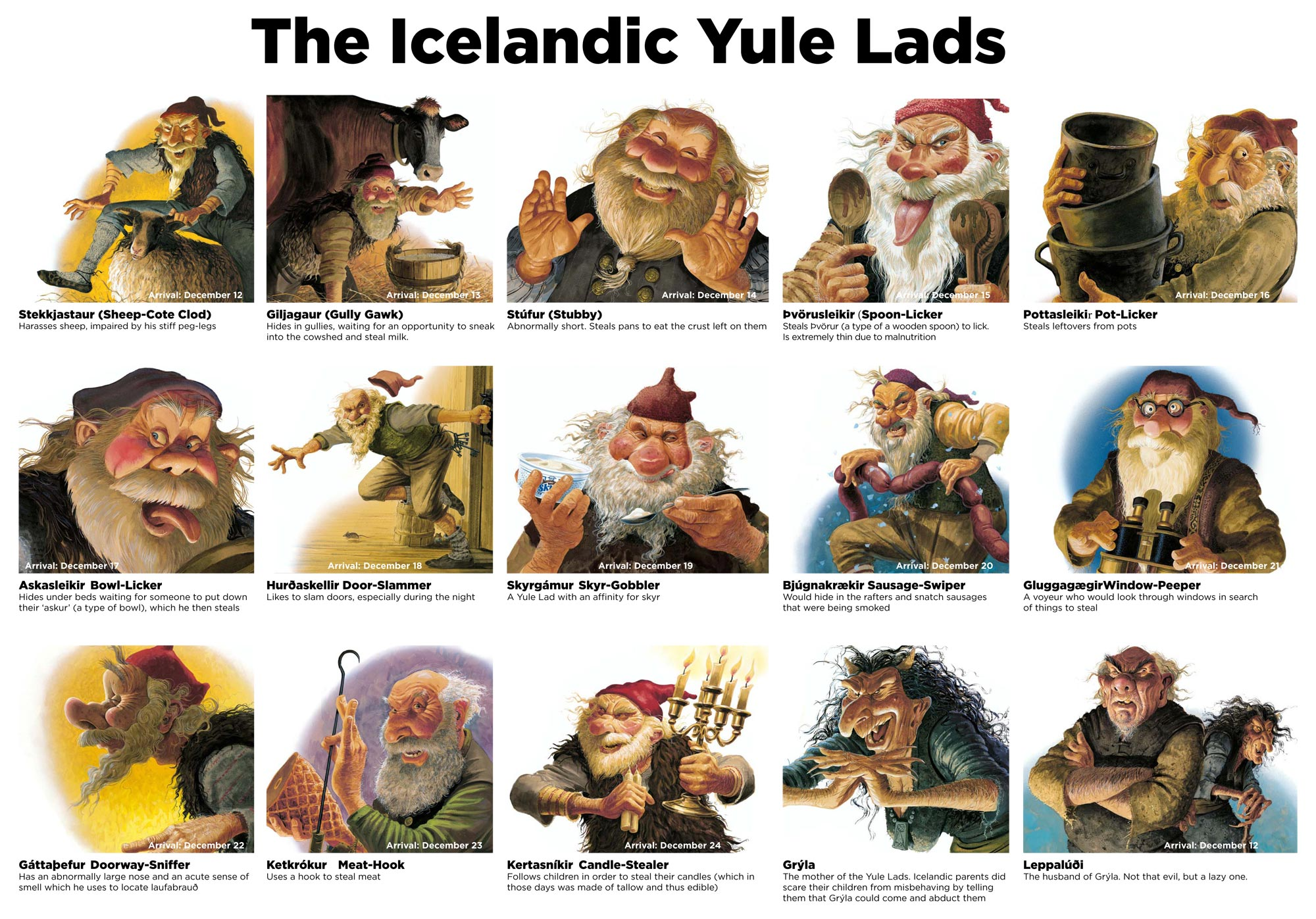 The Yule lads Iceland